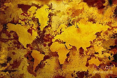 Vintage World Map Poster