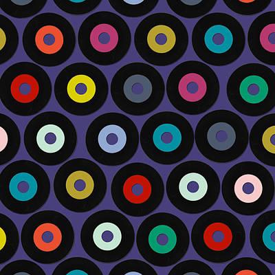 Vinyl Violet Poster by Sharon Turner