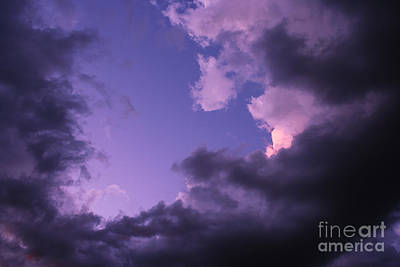 Violet Clouds Poster by Christiane Schulze Art And Photography