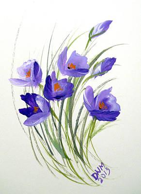 Violet Crocus Poster