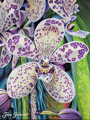 Violet Dotted Orchid Poster