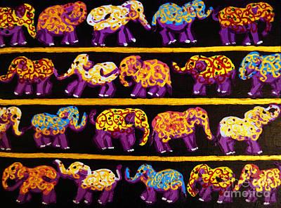 Violet Elephants Poster