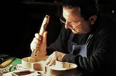 Violin-maker At Work Poster