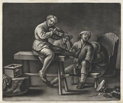 Violin Player In An Inn, Wallerant Vaillant Jan Van Somer Poster by Wallerant Vaillant Jan Van Somer