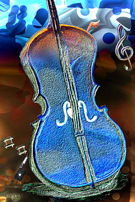 Poster featuring the painting Violin Solo by Paula Ayers