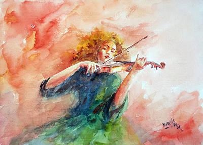 Violinist Poster by Faruk Koksal