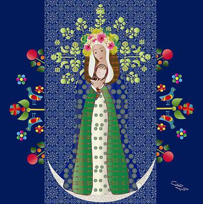 Virgen Chinita Poster