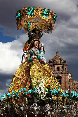 Virgen De Belen Cusco Poster by James Brunker