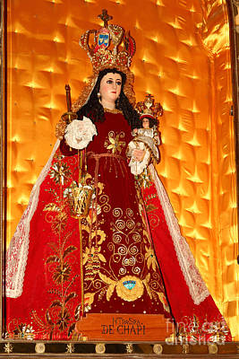 Virgen De Chapi Arequipa Peru Poster by James Brunker