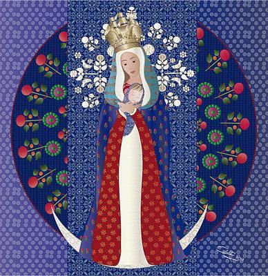 Virgen Posada Del Lago Poster