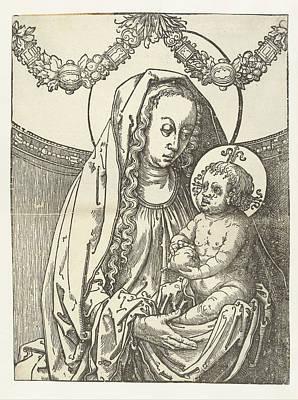 Virgin And Child, Circle Of Lucas Van Leyden Poster