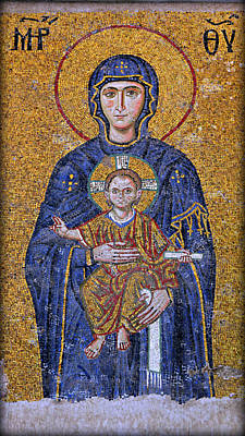 Virgin Mary And Christ Child Poster