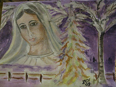 Virgin Mary At Medjugorje Poster