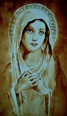 Poster featuring the painting Virgin Mary by Steven Ponsford