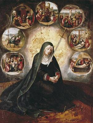 Virgin Of The Seven Sorrowsvirgin Poster by Everett