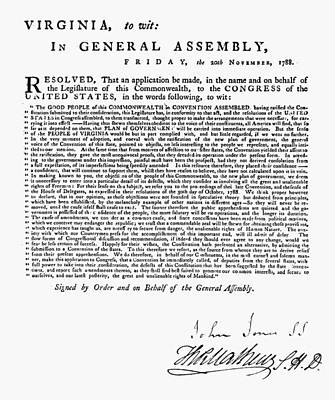 Virginia Assembly, 1788 Poster by Granger