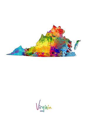 Virginia Map Poster