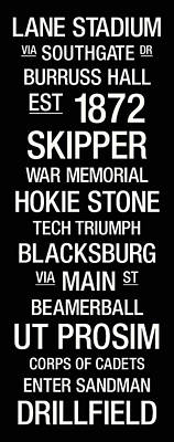 Virginia Tech College Town Wall Art Poster by Replay Photos