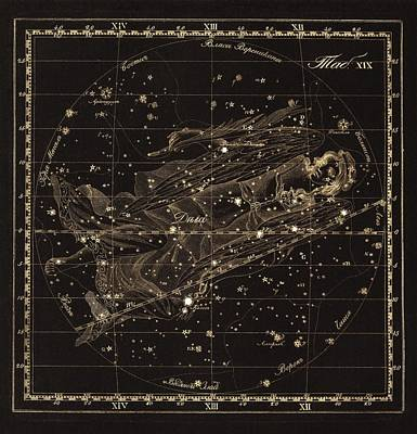 Virgo Constellation, 1829 Poster