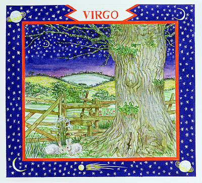 Virgo Wc On Paper Poster