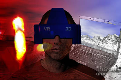 Virtual Reality Therapy Poster by Carol and Mike Werner