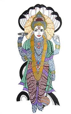 Vishnu II Poster by Kruti Shah