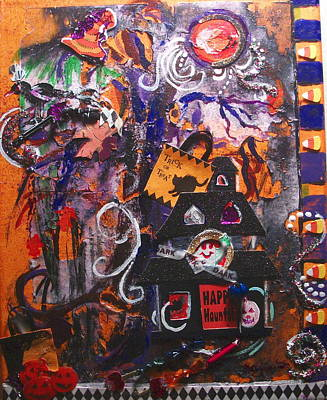 Visions Of Halloween Poster by Patty Boban Lipinski