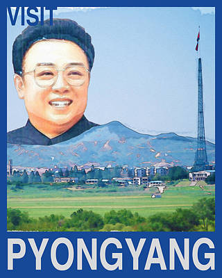 Visit Pyongyang Travel Poster Poster by Finlay McNevin