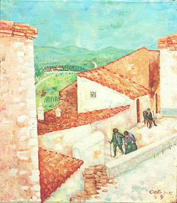 Vista Cimitero - Forenza Poster by Giovanni Caputo