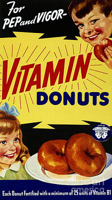 Vitamin Donut Poster by Science Source