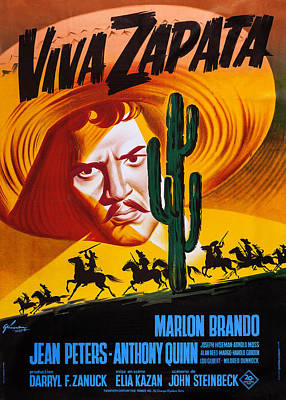 Viva Zapata, French Poster, Marlon Poster