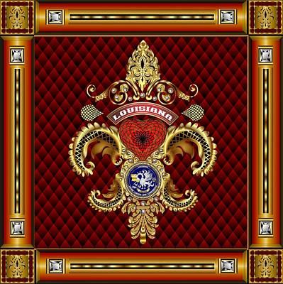 Vive La Louisiane Tribute Vector Sample Poster by Bill Campitelle