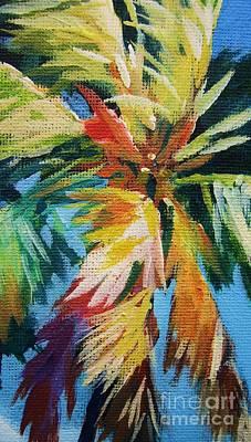 Vivid Palm Poster