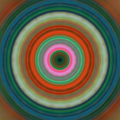 Vivid Peace - Circle Art By Sharon Cummings Poster by Sharon Cummings