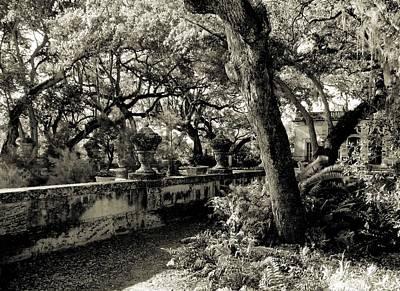 Vizcaya Garden Courtyard Poster