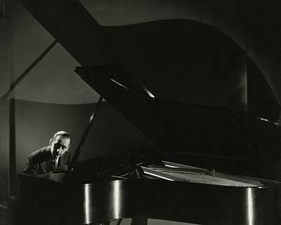 Vladimir Horowitz At A Grand Piano Poster