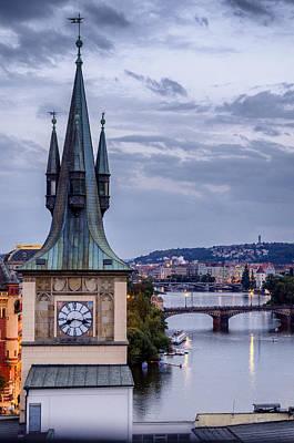 Vltava River In Prague Poster by Pablo Lopez