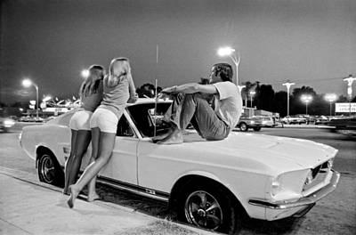 Vn Blvd.-001-31 White Fastbacks Poster by Richard Rick Mack McCloskey