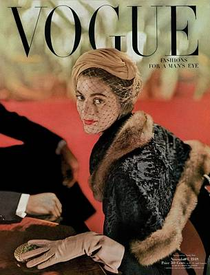 Vogue Cover Featuring Carmen Dell'orefice Poster by John Rawlings