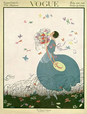 Vogue Cover Featuring Carrying A Bouquet Poster by Helen Dryden