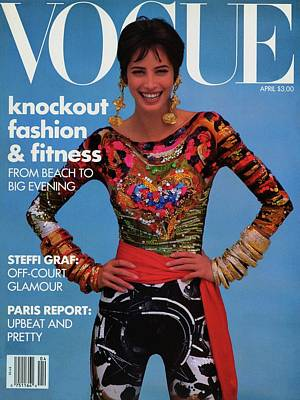 Vogue Cover Featuring Christy Turlington Poster by Patrick Demarchelier
