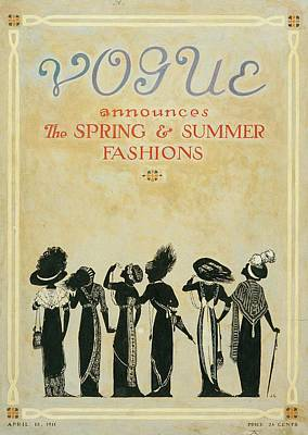 Vogue Cover Illustration Featuring Six Female Poster by Jessie Gillespie