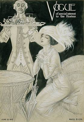 Vogue Cover Illustration Of A Valet Carrying Poster by H. Heyer