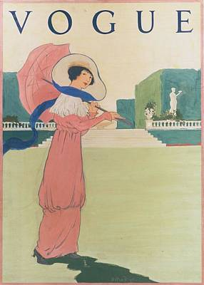 Vogue Cover Illustration Of A Woman Wearing Poster