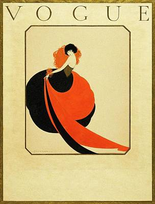 Vogue Cover Illustration Of A Woman Wearing Poster by Reinaldo Luza