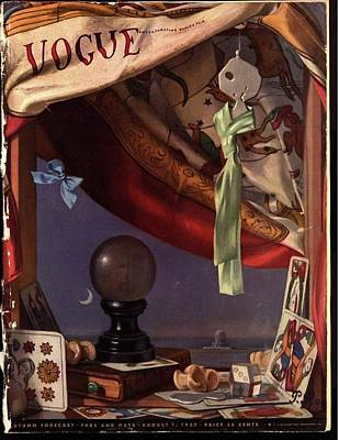 Vogue Magazine Cover Featuring A Crystal Ball Poster by Pierre Roy