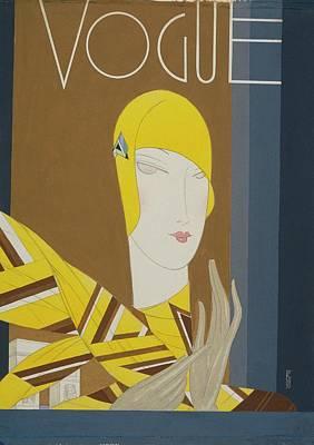 Vogue Magazine Cover Featuring A Portrait Poster by Eduardo Garcia Benito