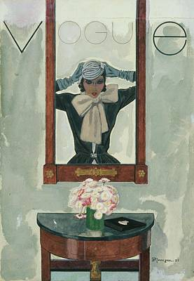 Vogue Magazine Cover Featuring A Reflection Poster by Pierre Mourgue