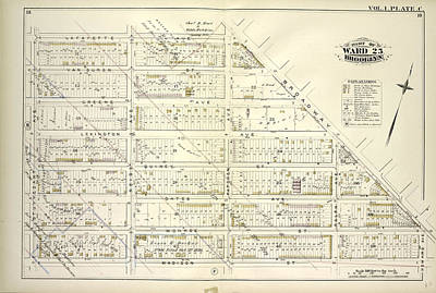 Vol. 1. Plate, C. Map Bounded By Lafayette Ave., Broadway Poster