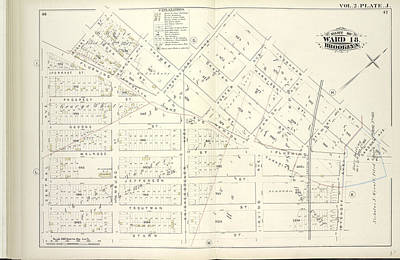 Vol. 2. Plate, J. Map Bound By Bogart St., Thames St Poster by Litz Collection